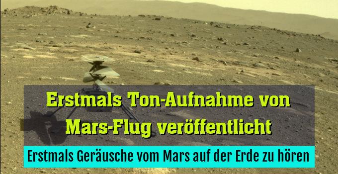 Erstmals Geräusche vom Mars auf der Erde zu hören