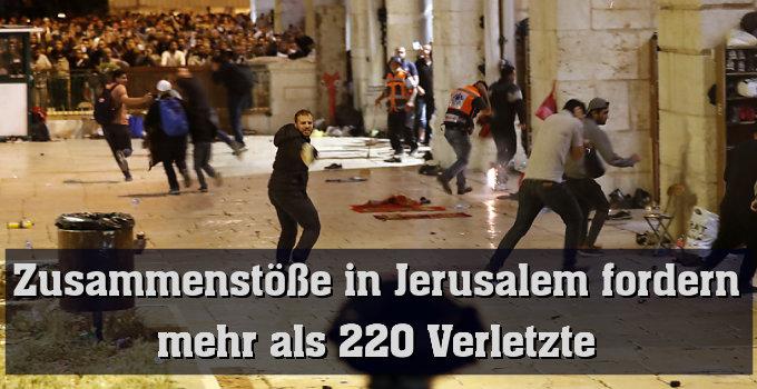 Rund 700 Polizisten rückten auf den Tempelberg aus