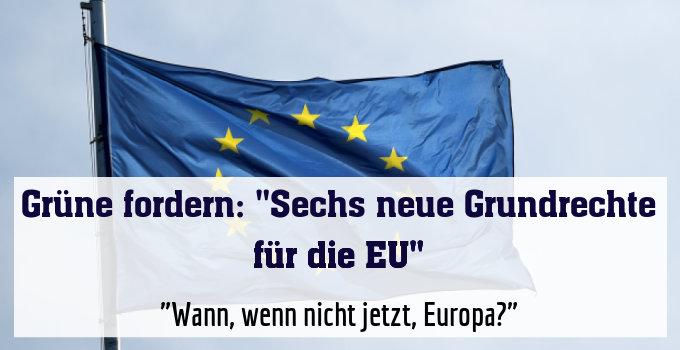 """""""Wann, wenn nicht jetzt, Europa?"""""""