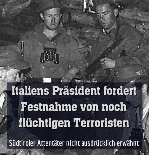 Südtiroler Attentäter nicht ausdrücklich erwähnt