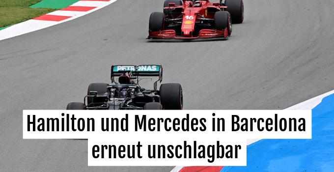 Lewis Hamilton siegte auch in Barcelona