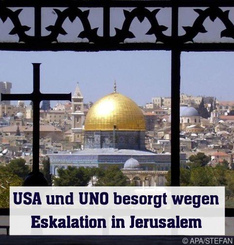 Blick auf den Felsendom in Jerusalem (Archivbild)