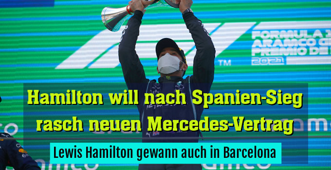 Lewis Hamilton gewann auch in Barcelona