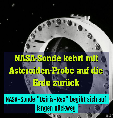 """NASA-Sonde """"Osiris-Rex"""" begibt sich auf langen Rückweg"""