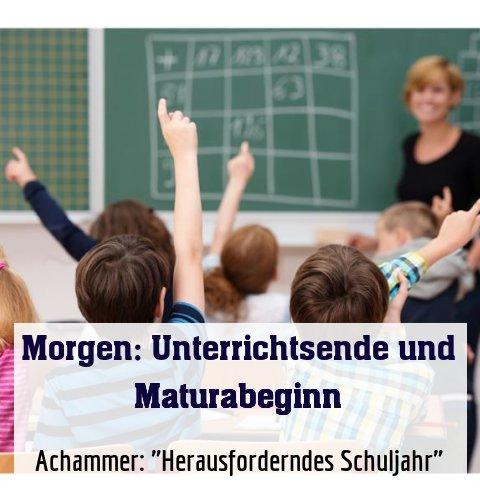 """Achammer: """"Herausforderndes Schuljahr"""""""