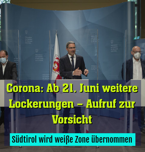 Südtirol wird weiße Zone übernommen