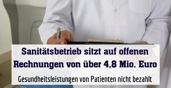 Gesundheitsleistungen von Patienten nicht bezahlt