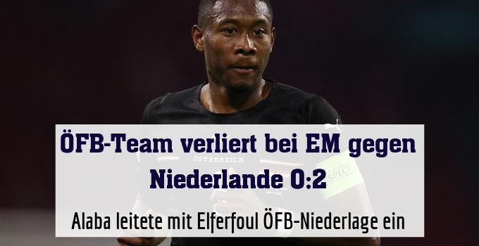 Alaba leitete mit Elferfoul ÖFB-Niederlage ein