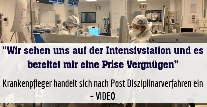 Krankenpfleger handelt sich nach schockierendem Post Disziplinarverfahren ein – VIDEO