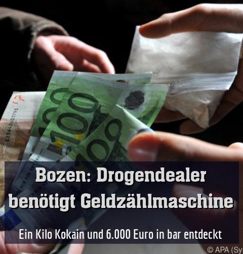 Ein Kilo Kokain und 6.000 Euro in bar entdeckt