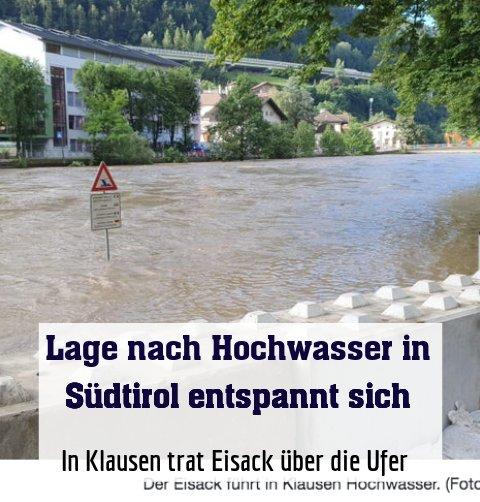 In Klausen trat Eisack über die Ufer