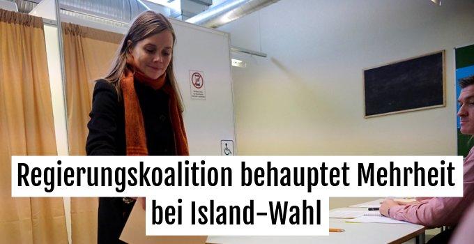 Premierministerin Jakobsdottir gab ihre Stimme ab