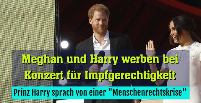 """Prinz Harry sprach von einer """"Menschenrechtskrise"""""""