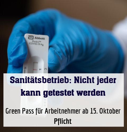 Green Pass für Arbeitnehmer ab 15. Oktober Pflicht