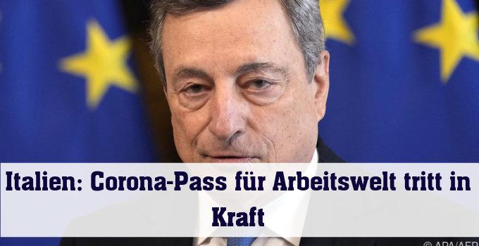 Kritik an Italiens Premier Draghi wegen verschärfter Corona-Regeln