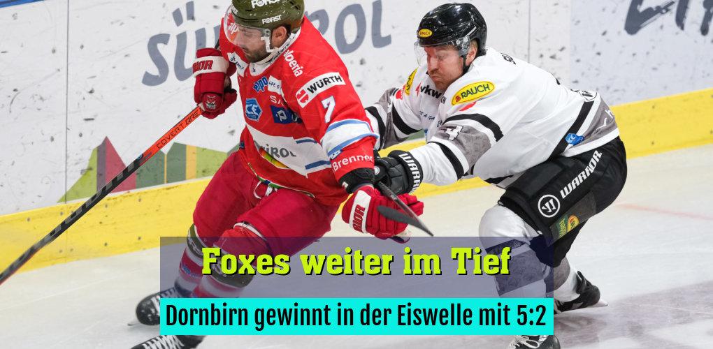 Dornbirn gewinnt in der Eiswelle mit 5:2