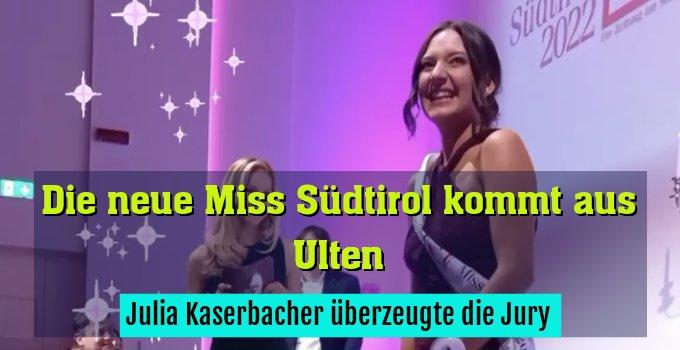 Julia Kaserbacher überzeugte die Jury