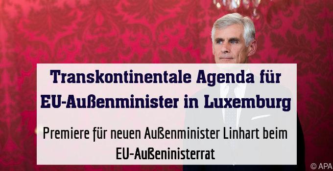 Premiere für neuen Außenminister Linhart beim EU-Außeninisterrat