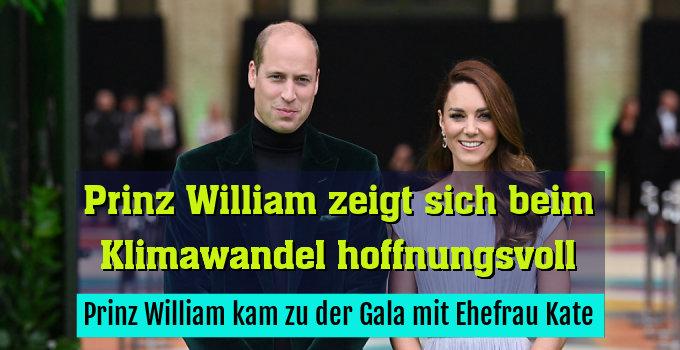 Prinz William kam zu der Gala mit Ehefrau Kate