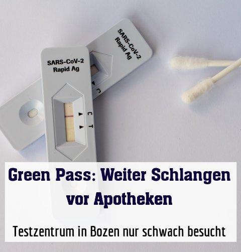 Testzentrum in Bozen nur schwach besucht