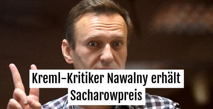 Der inhaftierte Oppositionelle wird vom EU-Parlament ausgezeichnet