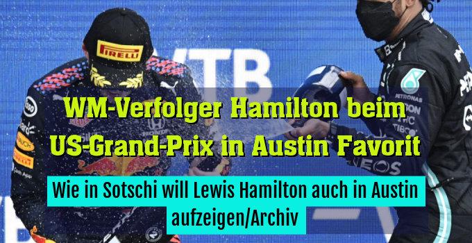 Wie in Sotschi will Lewis Hamilton auch in Austin aufzeigen/Archiv