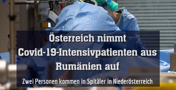 Zwei Personen kommen in Spitäler in Niederösterreich