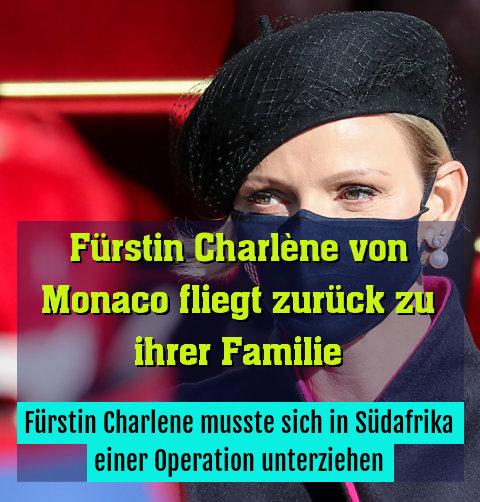 Fürstin Charlene musste sich in Südafrika einer Operation unterziehen