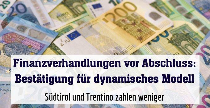 Südtirol und Trentino zahlen weniger