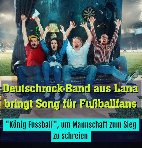 """König Fussball"", um Mannschaft zum Sieg zu schreien"