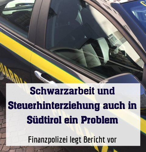 Finanzpolizei legt Bericht vor