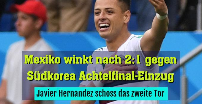 Javier Hernandez schoss das zweite Tor