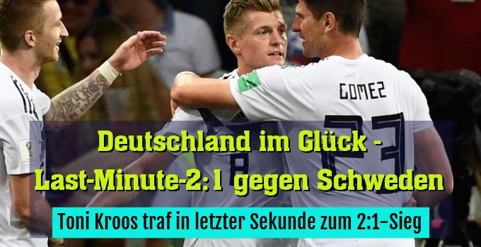 Toni Kroos traf in letzter Sekunde zum 2:1-Sieg