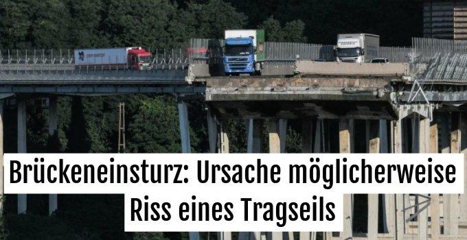Suche nach Ursache für Einsturz des Polcevera-Viadukts in Genua