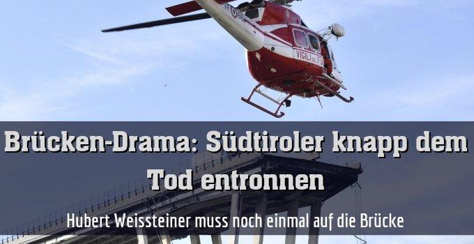 Hubert Weissteiner muss noch einmal auf die Brücke