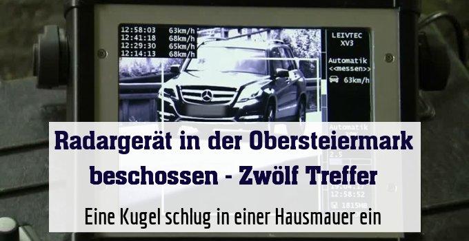 Das betroffene Radargerät in Dürnstein