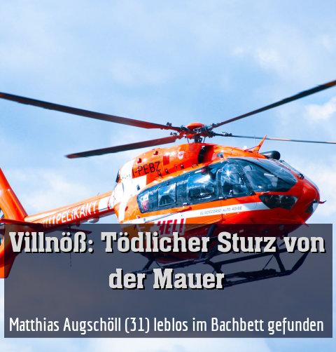 Matthias Augschöll (31) leblos im Bachbett gefunden