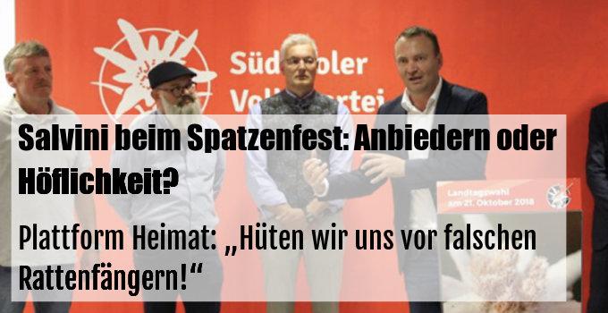 """PlattformHeimat: """"Hüten wir uns vor falschen Rattenfängern!"""""""