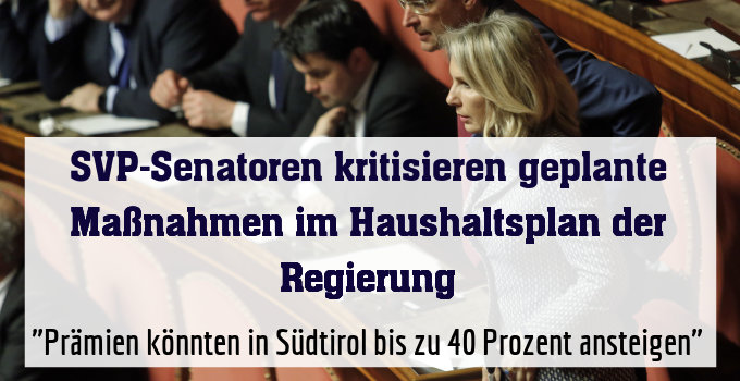 """""""Prämien könnten in Südtirol bis zu 40 Prozent ansteigen"""""""