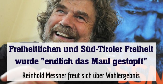 Reinhold Messner freut sich über Wahlergebnis