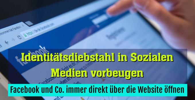Facebook und Co. immer direkt über die Website öffnen