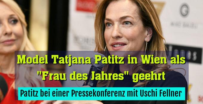 Patitz bei einer Pressekonferenz mit Uschi Fellner