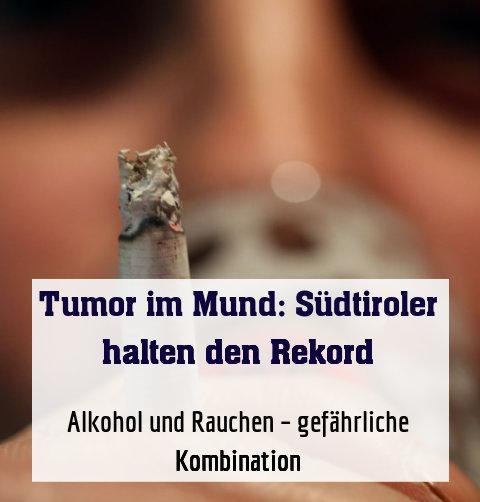 Alkohol und Rauchen – gefährliche Kombination