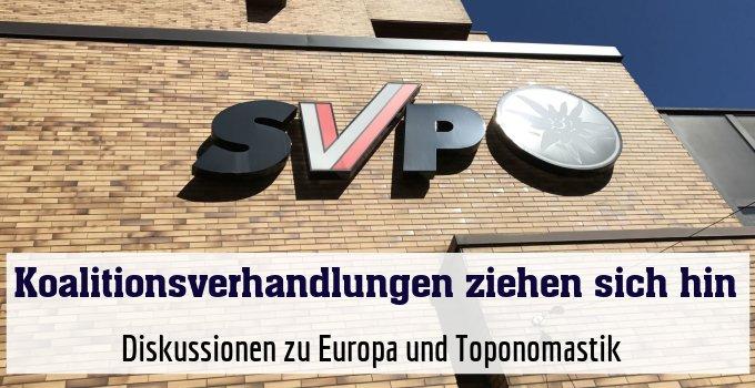 Diskussionen zu Europa und Toponomastik