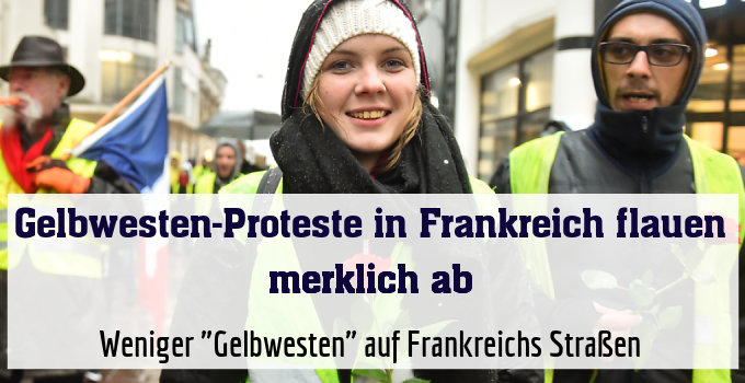 """Weniger """"Gelbwesten"""" auf Frankreichs Straßen"""