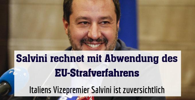 Italiens Vizepremier Salvini ist zuversichtlich