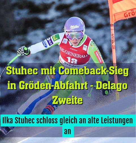 Ilka Stuhec schloss gleich an alte Leistungen an