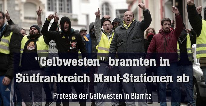 Proteste der Gelbwesten in Biarritz