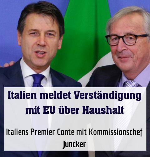 Italiens Premier Conte mit Kommissionschef Juncker