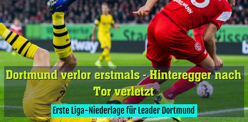 Erste Liga-Niederlage für Leader Dortmund